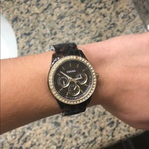 Fossil Brown Tortoise Shell Watch